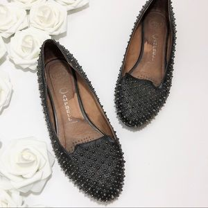 Jeffrey Campbell Martini Studded Loafers in Black